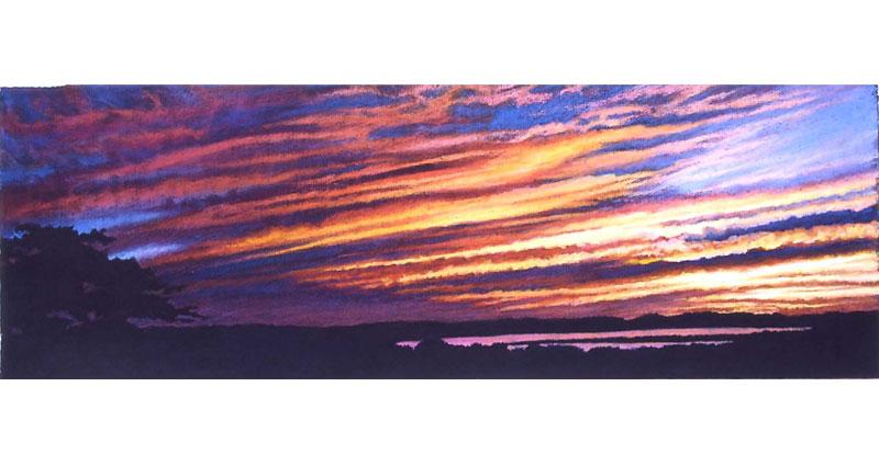 Austin Sky Oil Pastel