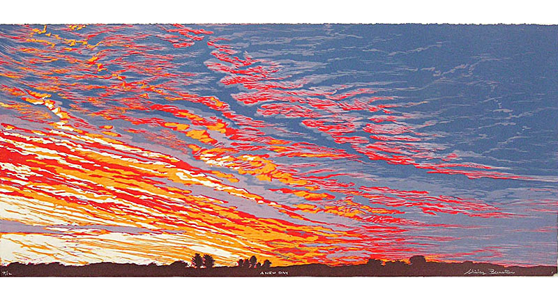 A New Day Woodcut