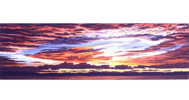 Clouds at Sea Oil Pastel
