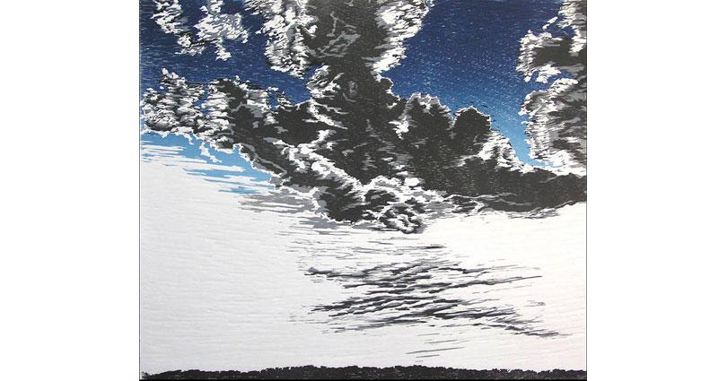 Cloud Bloom Woodcut