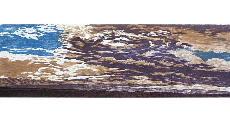 Cloud Twirl Woodcut