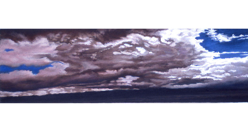Cool Warm Clouds Oil Pastel