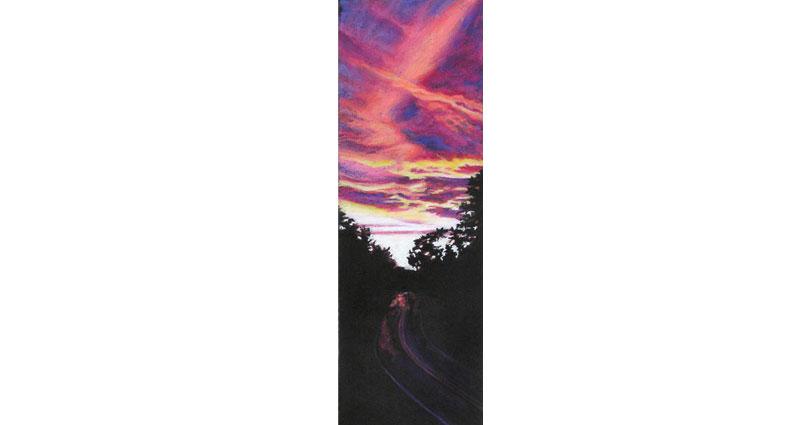 Criss Cross Oil Pastel
