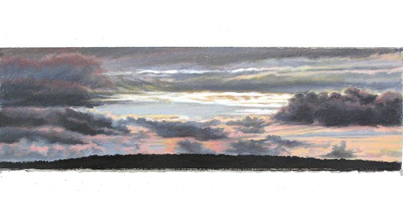 Gray on Gray II Oil Pastel
