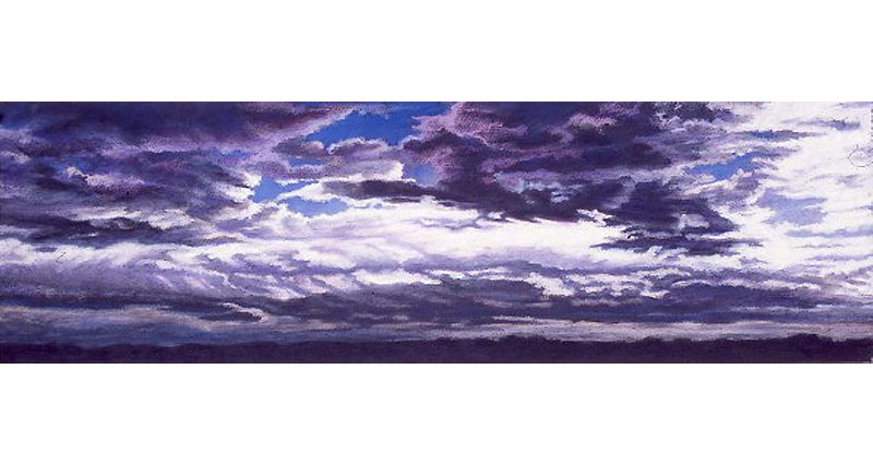 Imposing Clouds Oil Pastel