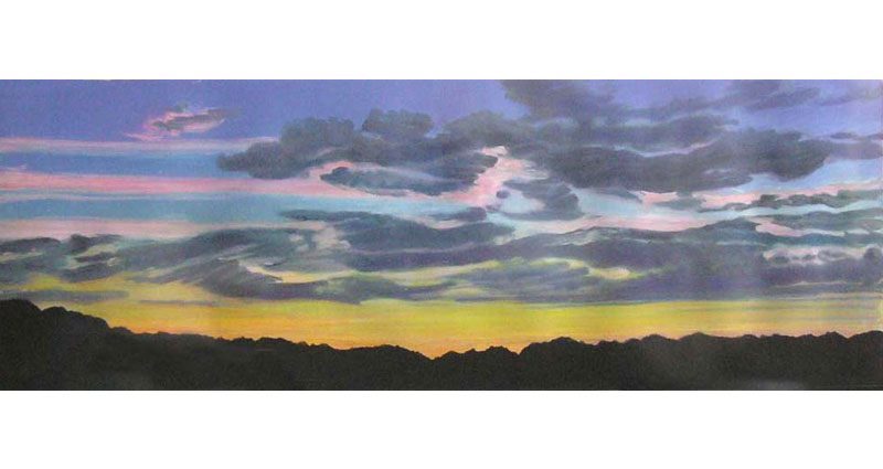 Pink Sky Bands Monotype