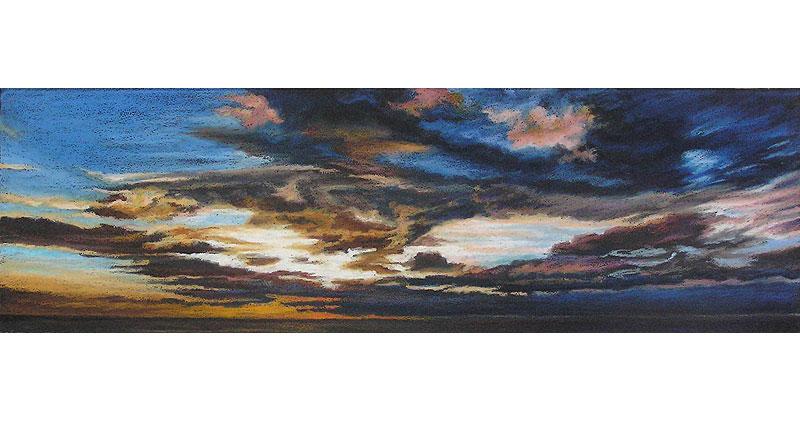 See/Sea Clouds Oil Pastel