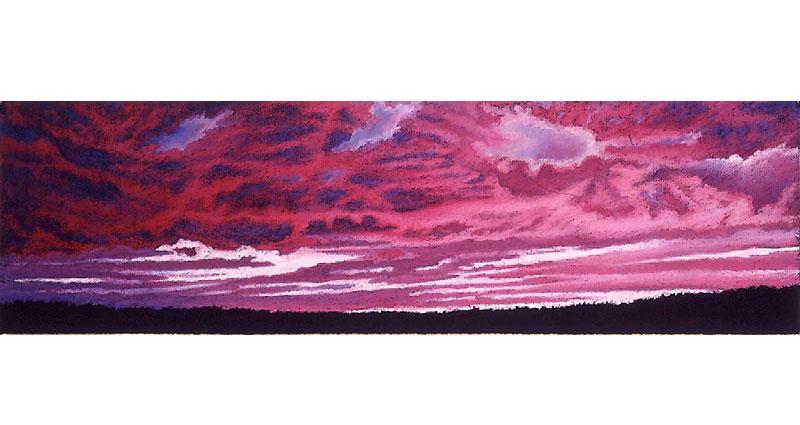Thinking Pink Oil Pastel