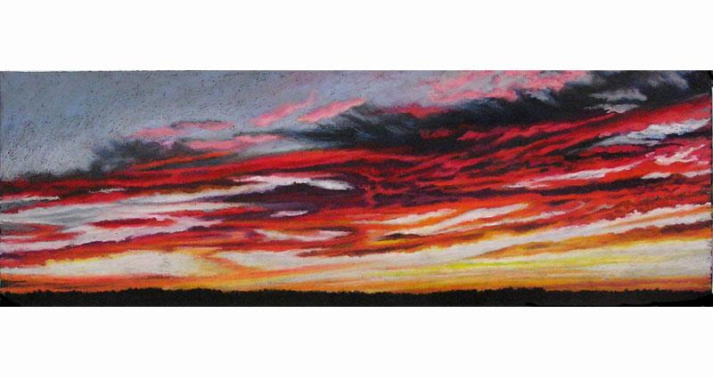 Devilish Clouds Oil Pastel