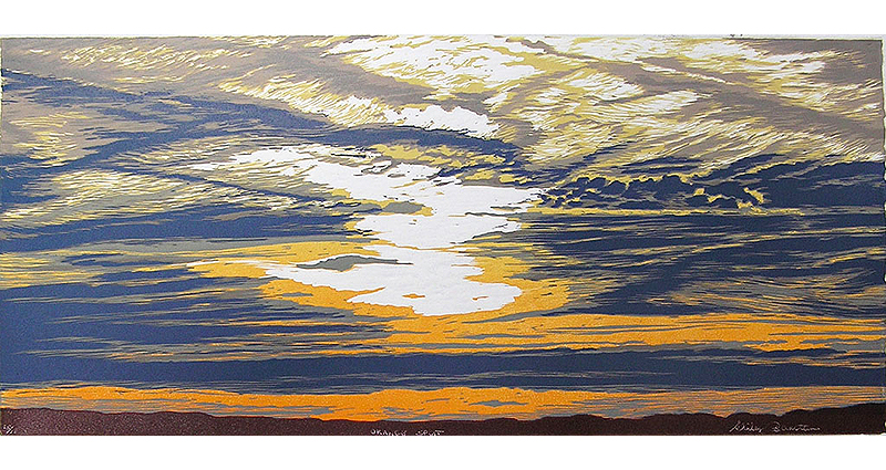 Orange Split Printmaking
