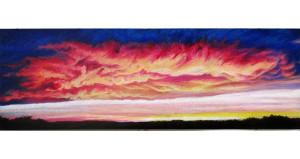 cloud blossom oil pastel
