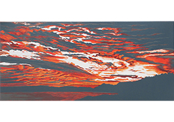 orange swirl woodcut print thumbnail