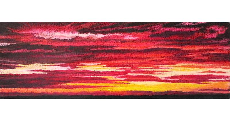 a blaze oil pastel