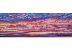 sky fire oil pastel thumbnail