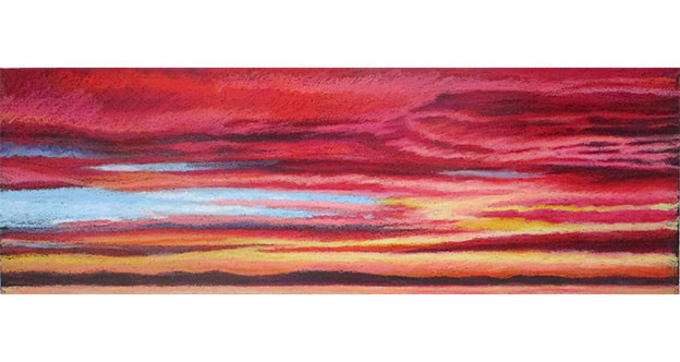 lipstick clouds oil pastels thumbnail